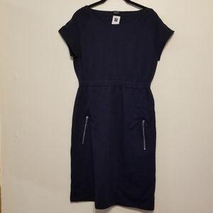 Gap Maternity stretch cotton navy dress
